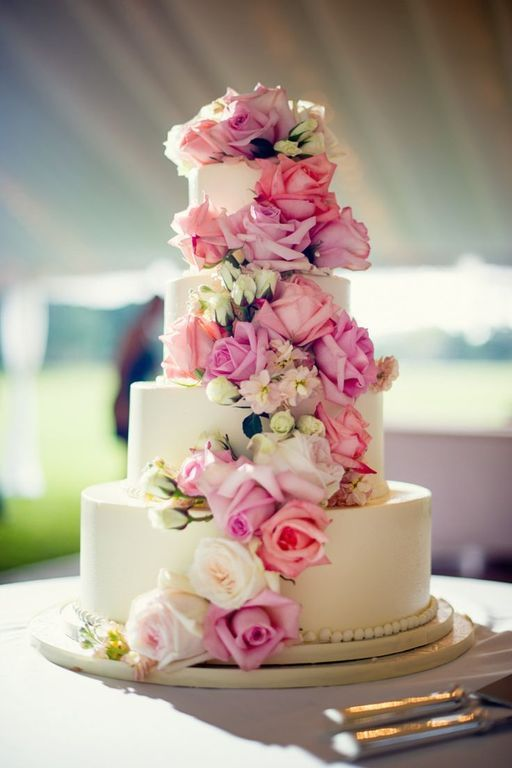 Торты свадебные с цветами